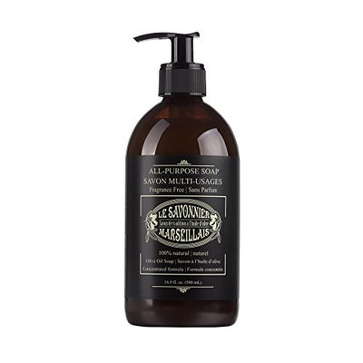 LSM Soaps Le Savonnier Marseillais All-Purpose Fragrance-Free Liquid Counter Top Soap