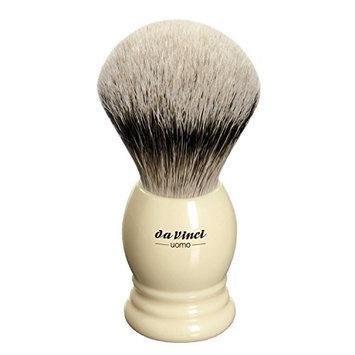 Da Vinci Series 296 Uomo Shaving Brush Silvertip Badger Hair Ringed Handle