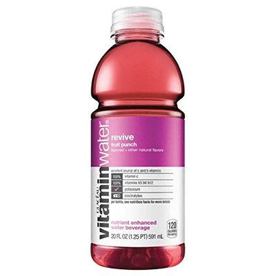 vitaminwater Nutrient Enhanced Water Beverage Revive Fruit Punch