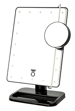 Sharper Image JS911B 8-Inch by 11-Inch Cordless LED Vanity Mirror and Beauty Station