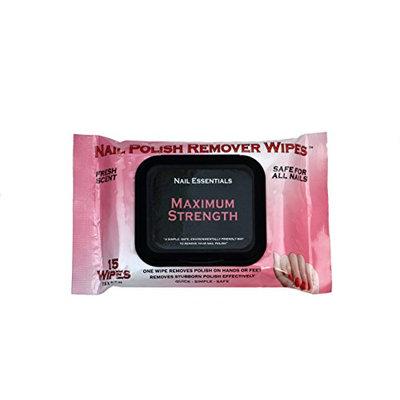 Nail Essentials Nail Polish Remover Wipes - 3 Pack