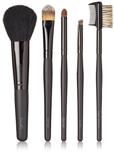Beauty Pro Series 5 pc Folder Brush Set Black