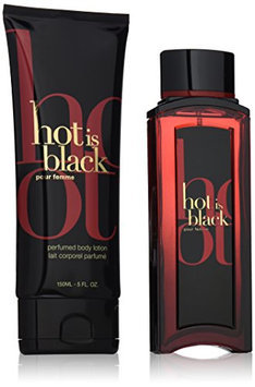 Nuparfums Group Hot is Black Pour Femme Gift Set with Body Lotion