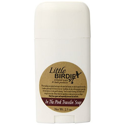 Little Birdie In The Pink Travel Soap with Pink Kaolin Clay and Dial Up Container