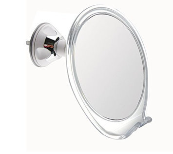 8X Magnification Fogless Shower Mirror with Razor Hook for Fog Free Shaving