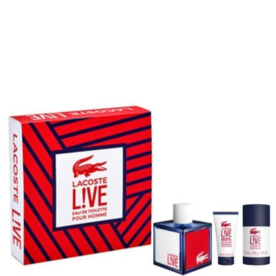 Lacoste Live Eau de Toilette 3 Piece Gift Set for Men
