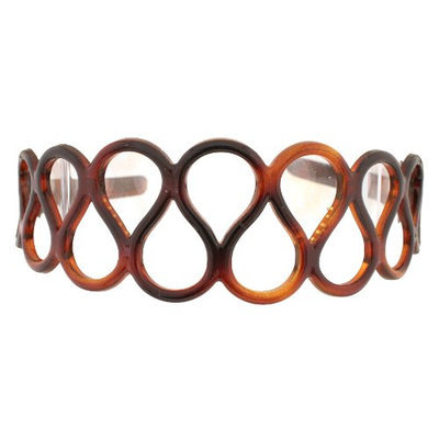Caravan Spaghetti Design Design Wide but Comfortable Tortoise Shell Headband