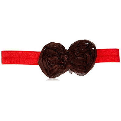 Jojo's Boutique Brown Chiffon Bow on Red Headband