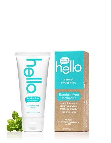 Hello Fluoride-Free Whitening Toothpaste - Natural Sweet Mint