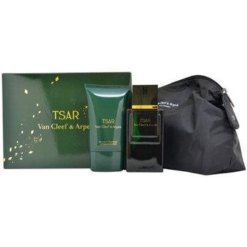 Van Cleef & Arpels Tsar 3 Piece Gift Set for Men (Eau de Toilette Spray Plus After Shave Balm Plus Pouch)