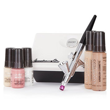 Luminess Air White & Black Legend Airbrush System with 5 Piece Deluxe Airbrush Foundation & Cosmetic Starter Kit