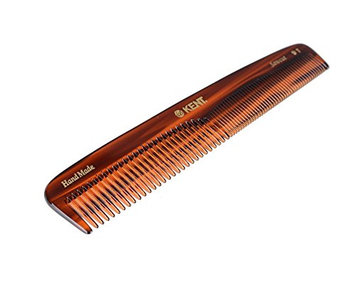Kent - The Handmade Comb - 192 mm Large Coarse and Fine Toothed Comb Sawcut 9T