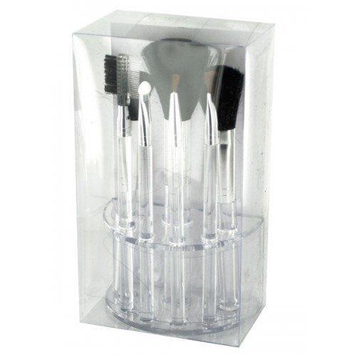 Luxorri Clear Makeup Organizer with Cosmetic Brush Set