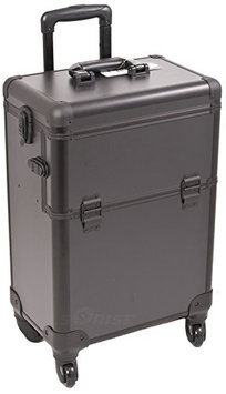 Sunrise Interchangeable 4-Wheels Pro Rolling Makeup Case with Removable Tray