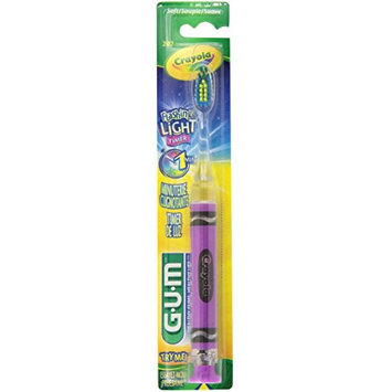 GUM Crayola Timer Light Toothbrush