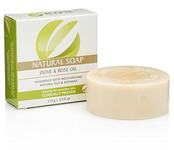 B.O.N Skincare Natural Olive & Rose Oil Soap Handmade with Moisturizing & Essential Oils