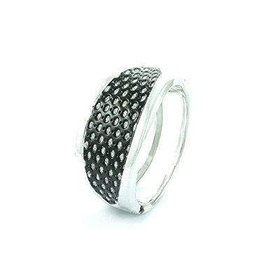 Linda Fashion Silver Tone Bangles with Hollow Design On Top