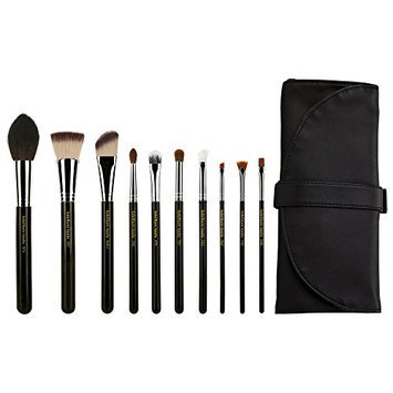 Bdellium Tools Professional Makeup Maestro Series The Key Essential 10Pc. Brush Set With Roll-Up Pouch