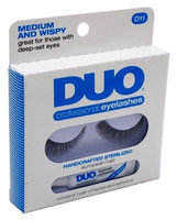 Duo Eyelashes Duo Professional Eyelashes With Adhesive D11 Medium And Wispy