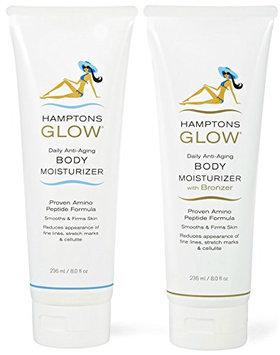 Hamptons Glow Daily Moisture & Bronzing Duo Pack - Tan Extending Moisturizer PLUS Bronzer