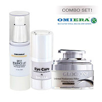 Anti-Wrinkle Cream Glocione (1.0 fl oz) + Dark Circle Eye Cream llumizone (0.5 fl oz) + Dark Spots Corrector Glocione (1.0 fl oz) Anti Aging Products By Omiera Labs