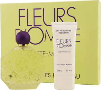 Fleurs D'ombre Violette-Menthe by Jean Charles Brosseau for Women. Set-Eau De Toilette Spray 3.4-Ounces & Body Lotion 1.7-Ounces