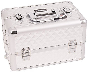 Craft Accents Pattern Professional Aluminum Cosmetic Makeup Case