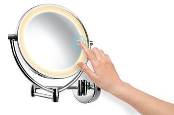 Ovente MLW95CH Dual Sided Multi Touch Wall Mount Vanity Mirror
