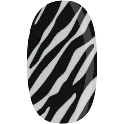 Skinz Nail Decals 24 Count Black and White Zebra Print