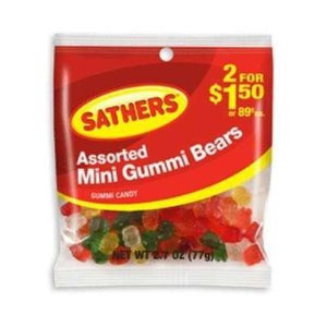 Sathers Assorted Mini Gummi Bears