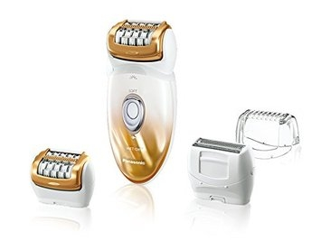 Panasonic ES-ED50-N Multi-Functional Wet/Dry Shaver and Epilator with Four Attachments and Travel Pouch