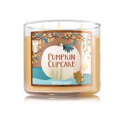 Bath & Body Works® PUMPKIN CUPCAKE 3-Wick Scented Candle