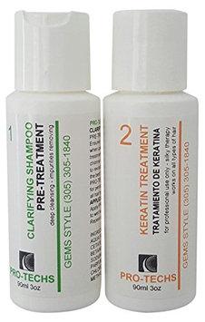 PRO-TECHS ORGANIC BRAZILIAN KERATIN Formaldehy Free For All type of hair + Clarifying Shampoo 3 oz