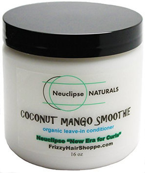 Frizzy Hair Shoppe Neuclipse Naturals Coconut Mango Smoothie 16 oz (New Era for Curls) Natural Hair Leave-in Conditioner & Moisturizer with Organic Coconut Oil and Mango Butter