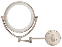 Danielle LED Lighted 2-Side Wall Mount Mirror with 10X Magnification