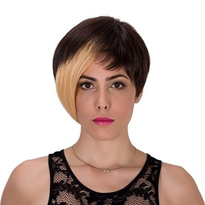 Generic Gothic Short Straight Heat Resistant Synthetic Hair Wig