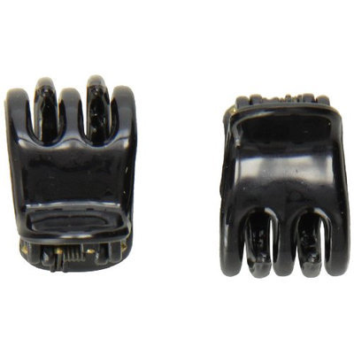 Caravan Mini Black Hair Claws For Part Or Ponytail Will Hold In A Breeze Pair