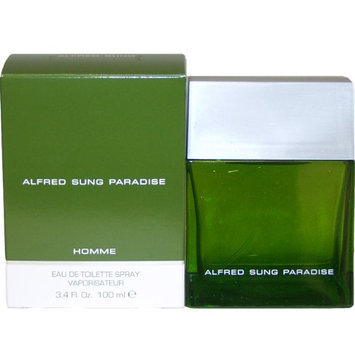 Paradise By Alfred Sung For Men. Eau De Toilette Spray 3.4 Ounces