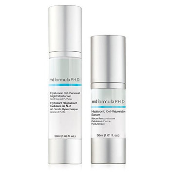 MD Formula P.H.D Hyaluronic Cell-Rejuvenation Serum with Cell-Hydration Night Moisturizer