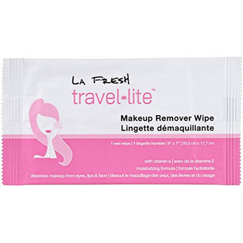 La Fresh Travel Lite (25) Make-up Remover Wipes Large Size Individually Packaged