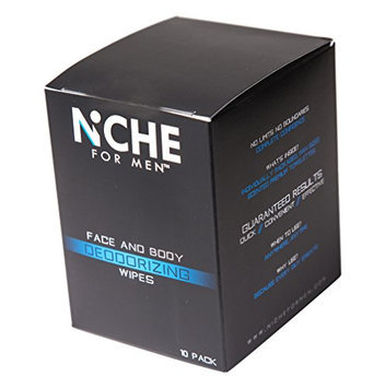 Niche For Men - Male face and body deodorizing wipes