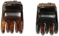 Caravan Mini Tortoise Shell Hair Claws For Part Or Ponytail Will Hold In A Breeze Pair