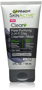 Garnier Skin Skinactive Clean Plus Pore Purifying 2-In-1 Clay Cleanser/Mask