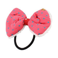 Uxcell Elastic Rubber Bowknot Decor Hair Band Ponytail Holder