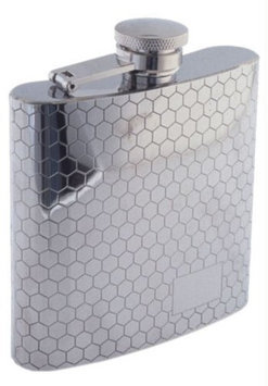Colonel Conk Sunstar Model 1007 Rimless Flask with Honeycomb Pattern