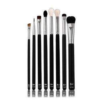Petal Beauty 8 Brush Eye Makeup Set+Bonus Lip Brush-Small Eye Liner