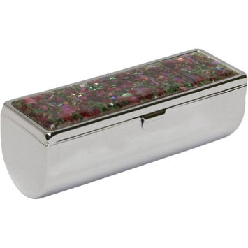 Budd Leather Mother of Pearl Single Lipstick Holder