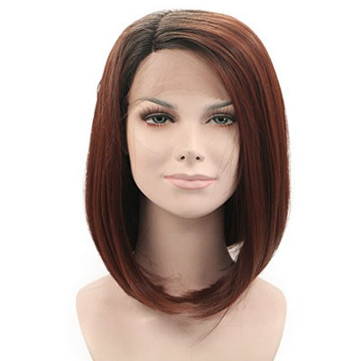 Generic Fluffy Straight Synthetic Fashion Capless Women'S Bump Wig