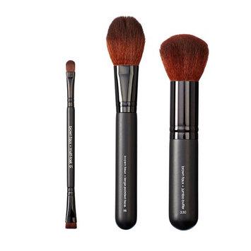 VEGAN LOVE VTrioS49 Multi Task Small Pointed Face and Jumbo Buffer Brush Set