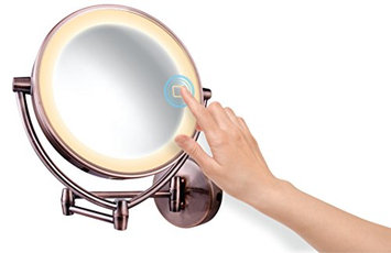 Ovente MLW95AB Dual Sided Multi Touch Wall Mount Vanity Mirror